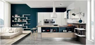 cuisine mur bleu photo peinture pour cuisine blanche mur bleu cuisine ouverte sur