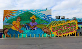 28 photos of the stunning new murals in eastern market show eastern market mural