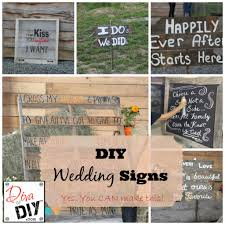 wedding signs diy cheap rustic wedding ideas