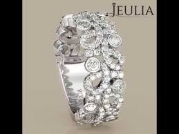 Jeulia Wedding Rings by Jeulia Round Cut Created White Sapphire Women U0027s Wedding Band