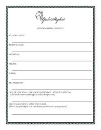 makeup contracts for weddings hair and makeup contract template vizitmir