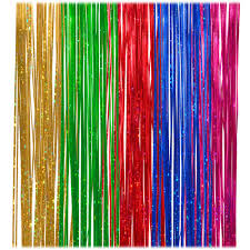 Halloween Tinsel Garland by Holographic 18 Inch Multi Color Icicle Tinsel Garland Novelty