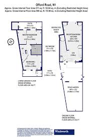 floor plan area calculator 2 bedroom property for sale in offord road islington london n1