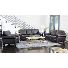 Gray Leather Sofa And Loveseat Maverick Top Grain Leather Sofa Loveseat And Armchair Set Sam S