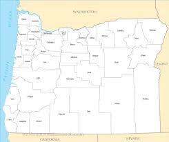 Oregon County Map by A Large Detailed Oregon State County Map