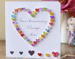 2nd wedding anniversary card handmade personalised second