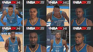 nba 2k15 graphics comparison okc thunder roster nba 2k15 vs nba