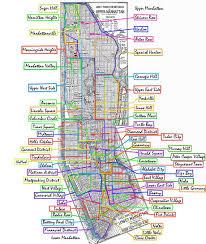 map of nyc areas list of manhattan neighborhoods