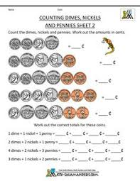 free money worksheets counting quarters dimes nickels and pennies