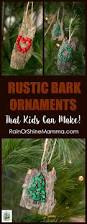 Easy Diy Christmas Ornaments For Kids Diy Christmas Ornaments From Bark That Kids Can Make