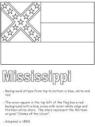 united states symbols coloring pages mississippi state flag