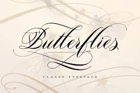 light butterfly script fonts creative market