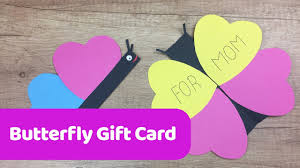 how to make easy butterfly gift card for mother u0027s day simple diy