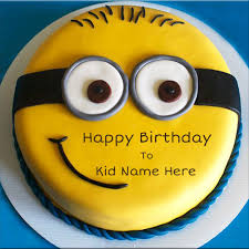 Write Name On Happy Birthday Wishes Cake For Kids