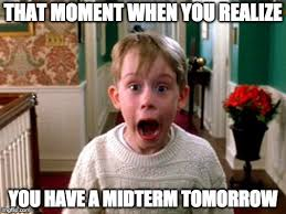 Midterm Memes - image tagged in home alone imgflip