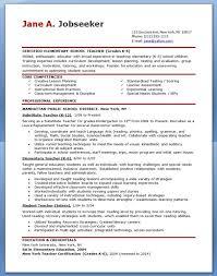 exles of teachers resumes resume exles resume sle 2015 jobsxs
