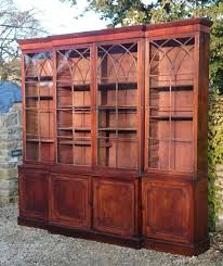 Break Front Bookcase Breakfront Bookcases Hares Antiques