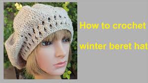 redheart pattern lw2741 how to crochet winter beret hat free pattern tutorial by wwwika
