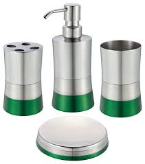 shiny matte 4 piece bathroom set green contemporary bathroom