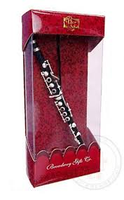 clarinet ornament black and silver christmas metal musical