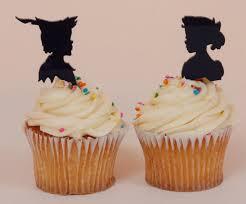 custom cupcake toppers custom wedding or birthday cupcake topper silhouettes pan