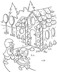 kids gingerbread house coloring netart