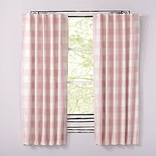 pink buffalo check curtain the land of nod