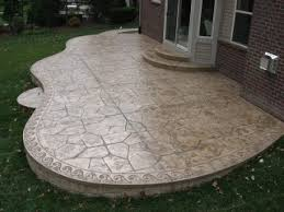 Textured Concrete Patio by Lovely Design Around The Edge Of This Stamped Concrete Patio
