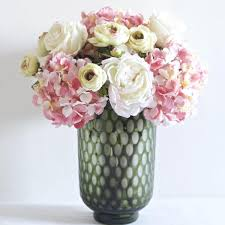 artificial peonies pink white hydrangea peony and ranunculus bouquet