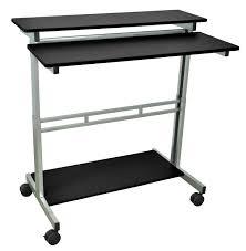 black 40 u2033 adjustable stand up desk luxor