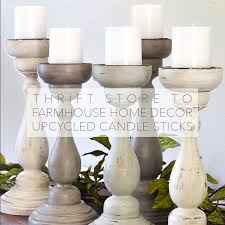 Home Decor Thrift Store Thrift Store To Farmhouse Home Decor Diy Upcycled Candle Sticks