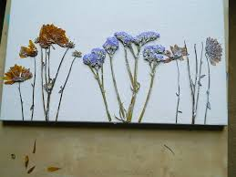 Dry Flowers Dried Flower Canvas Wall Art