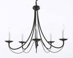 Simple Wrought Iron Chandelier Wrought Iron Chandelier Chandeliers Lighting H22 X W26 With Swag