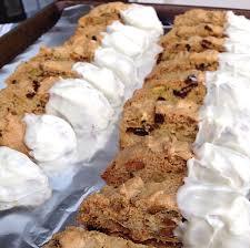 white chocolate bunny white chocolate dipped cranberry and pistachio biscotti recipe