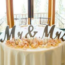 mr mrs wedding table decorations mr and mrs sign wedding decoration wedding present silver mr mrs