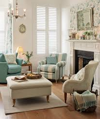 livingroom lounge laura ashley blue and cream large floral pattern nicely repeated