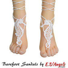 barefoot sandals ravelry barefoot sandals seahorse pattern by elaine d