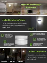 motion activated led wall sconce motion sensor wall light night