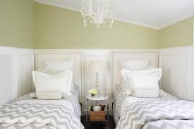 Green And Gray Bedroom by Green And Gray Girls Bedroom With Beadboard Trim Transitional