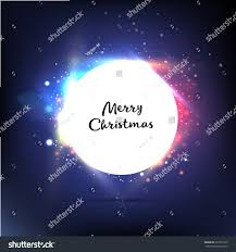 christmas garland colorful lights creative template stock vector