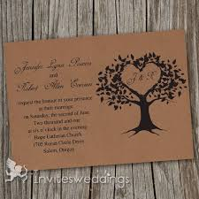 cheap vintage brown tree wedding invitations iwi249 wedding