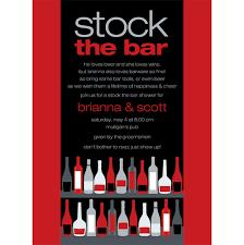 stock the bar shower bar shelf berry black stock the bar invitation by noteworthy