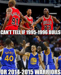 Chicago Bulls Memes - nba memes on twitter can t tell if 1995 1996 chicago bulls or 2014