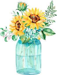 sunflower bouquet sunflowers jar sunflower bouquet watercolor watercolor