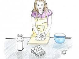 qui fait la cuisine illustration d une fille qui cuisine par tchiiweb