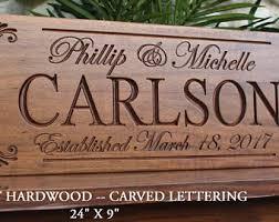 Personalized Wedding Plaque Custom Wedding Gift Etsy