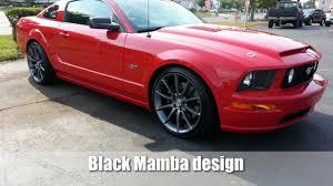 Black Mustang With Black Rims Ford Mustang Black Mamba Wheels Youtube