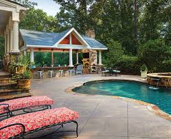 pool and outdoor kitchen designs atlanta outdoor living spaces the cozy outdoors atlanta home