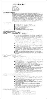 quality assurance resume free professional qa specialist resume template resumenow