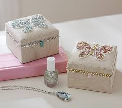 jewelry box favors beaded butterfly small jewelry box pottery barn kids beautiful
